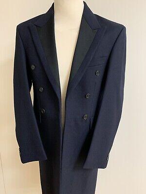 Qualità Al 100% Da Uomo Navy Classic Fit Herringbone Frockcoat Giacca Ex Noleggio Formale/corse/nozze-edding It-it