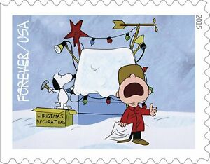 20 USPS STAMPS 2015 CHARLIE BROWN PEANUTS Forever Postage Stamps 1 Booklet