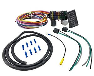 12 Circuit Universal Main Wiring Harness Loom Fuse Box Muscle Car Hot  Street Rod | eBayeBay