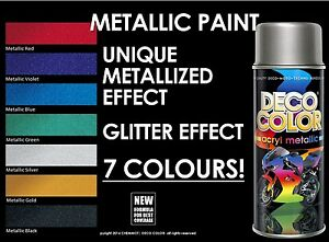 deco color metallic glitter metalized spray paint 400ml motorcycle scooter bike ebay. Black Bedroom Furniture Sets. Home Design Ideas