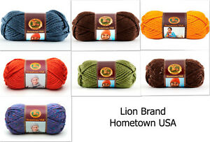 Lion-Brand-Hometown-USA-Super-Bulky-Yarn-Color-Choice-Loom-Knit-Crochet