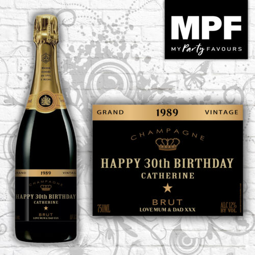 Personalised Novelty Champagne BRUT Bottle Label Birthday//Anniversary//Any Gift