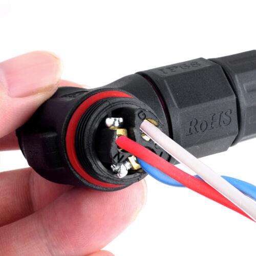 Ip68 wasserdichter 3-pin 2-pin kabel verbinder steckdose kreuzung für gärtnerei