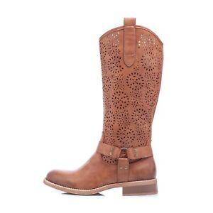 Scarpe donna stivali al ginocchio equitazione estivo traforato eco pelle GR-6601