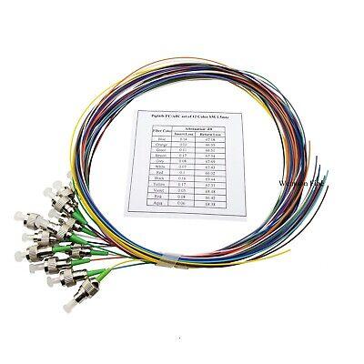 5lot 12pcs Fiber FTTH SC//APC Fiber Optic Pigtail Simplex SM 9//125 1.5 Meters