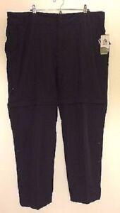 Alpine-Design-Women-039-s-Tech-Series-Convertible-Blk-Pant-Straight-Fit-Size-22W-NWT