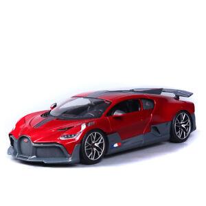 Bburago-1-18-Bugatti-Chiron-Divo-Diecast-Modelo-Coche-de-Carreras-Rojo-Nuevo-en-Caja