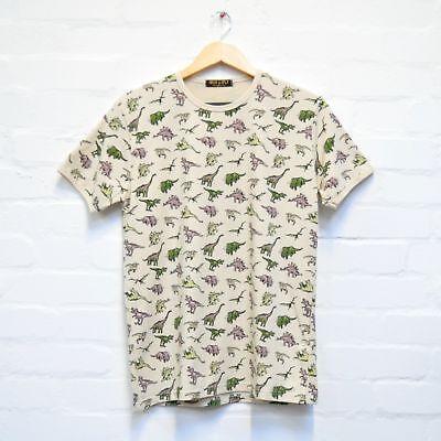Modestil Dinosaur Print T Shirt By Run And Fly S/m/l/xl/xxl Stone Men Women Bnwt/new