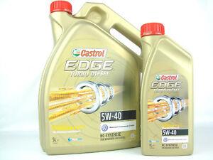 6-Litros-Aceite-5w-40-Castrol-Edge-Turbo-Diesel-de-motor-VW-BMW-MB-OPEL-FIAT