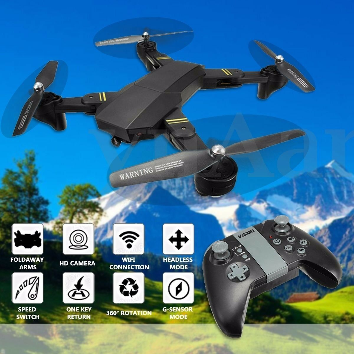 VISUO XS809HW WIFI FPV With Wide Angle HD Camera High Hold Mode Foldable Arm RC
