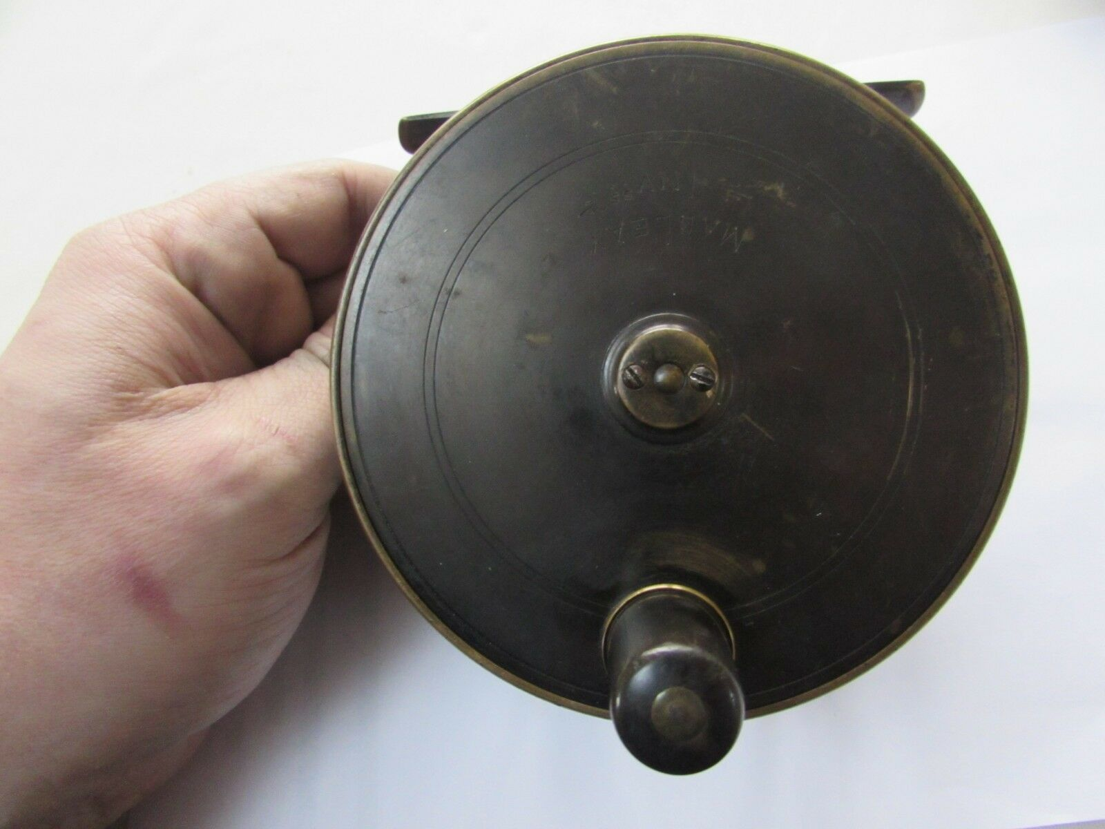 A1 vintage macleay inverness  malloch brass platewind salmon fly fishing reel 4.5  sale online