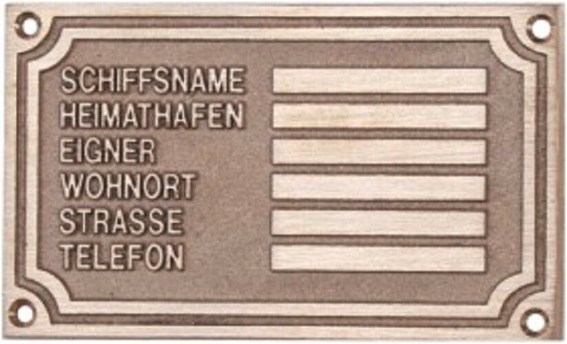 Of Ship Owners Sign Nameplate of Ship Owners
