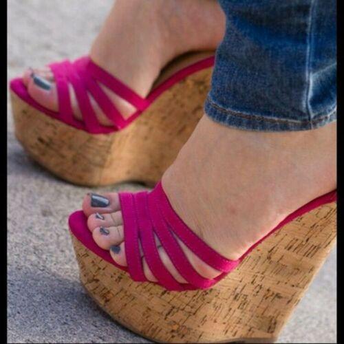 2019 Fashion Women Wedges Sandals Platform High Heels Shoes Woman Plus Size 4-15