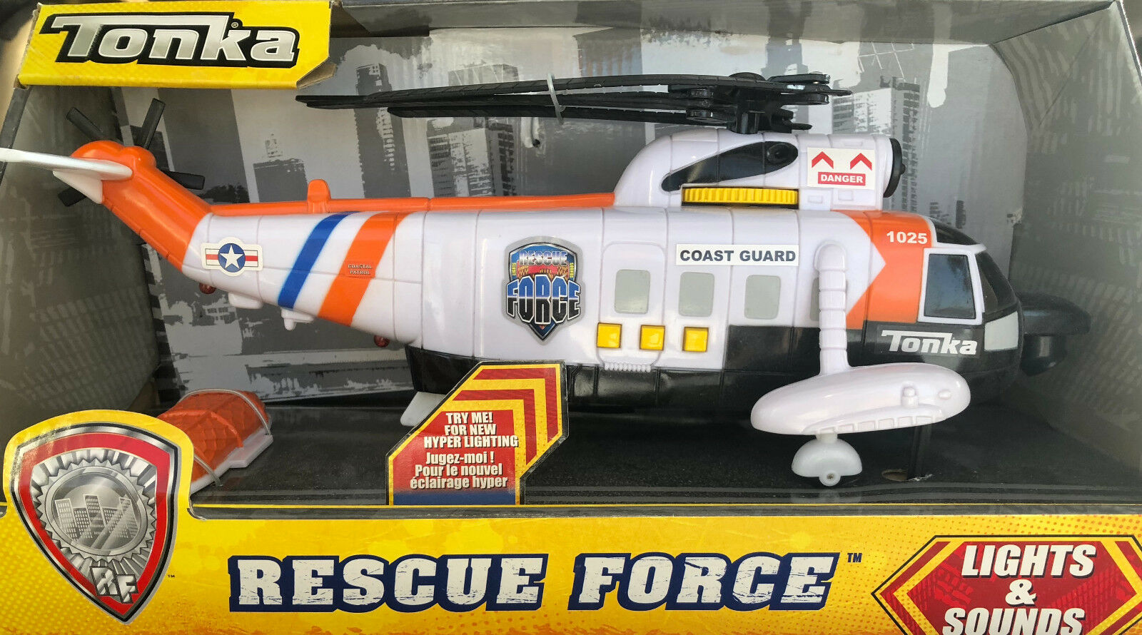 Brand New Tonka Coast Guard Rescue Force Helicopter 1025 Lights & Sounds Rare