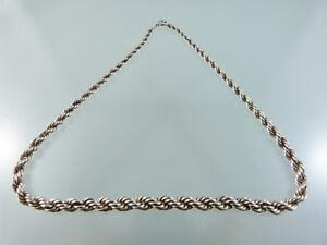 VINTAGE-TAPERED-ROPE-TWIST-SILVER-835-NECKLACE-16-5-034-BY-AA