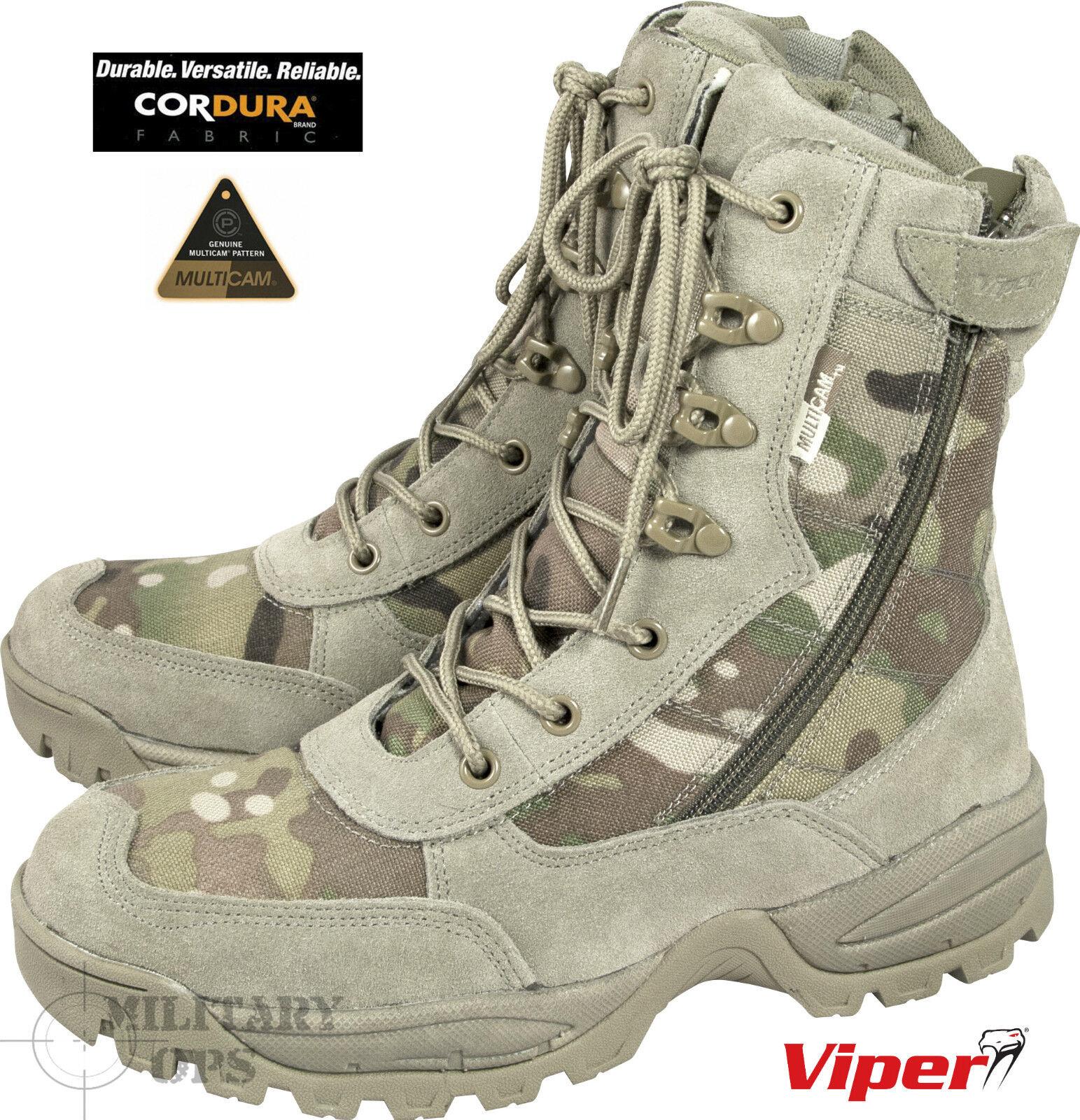 nuovi prodotti novità Viper Special Ops Patrol Multicam Multicam Multicam Stivali MTP Combat Militare Tattico cerniera laterale  negozio fa acquisti e vendite