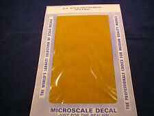 MICROSCALE DECAL TRIM FILM TF-35 KEVLAR & CARBON FIBER MATERIAL YELLOW & BLACK