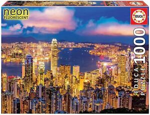 Hong Kong ~ Skyline Landscape At Night~ 1000 Piece Educa Jigsaw Puzzle