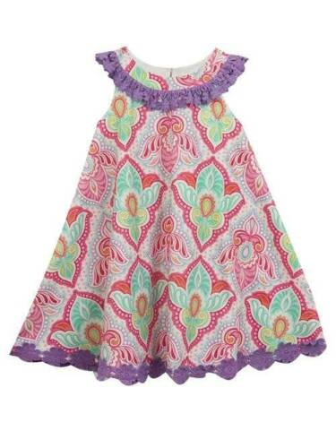 Counting Daisies Rare Editions Purple Fuchsia Turquoise Dress Set 12 18 24 Month
