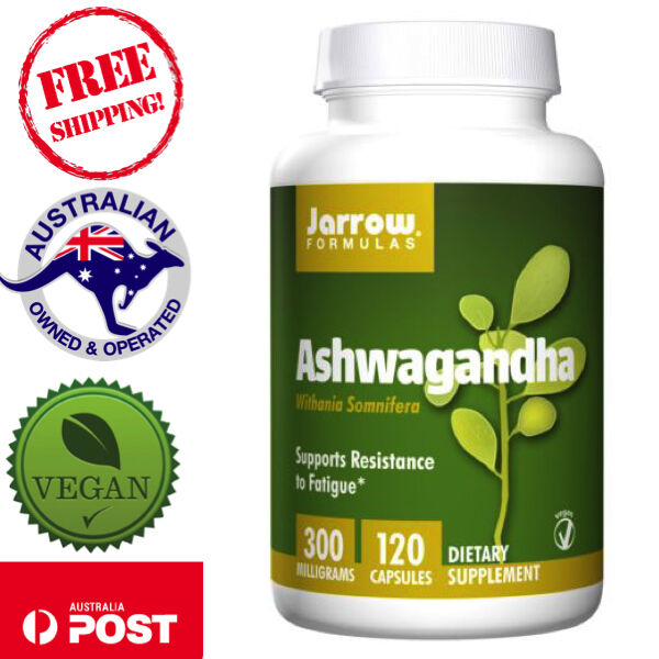 Jarrow Formulas Ashwagandha 300mg 120 Vegan Caps Supports Resistance to Fatigue