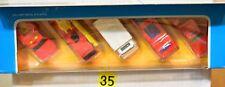 HOT WHEELS 1987 EMERGENCY TEAM 5 CAR GIFT PACK FIRE TRUCK AMBULANCE