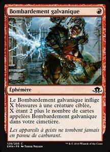 MTG Magic EMN - (x4) Galvanic Bombardment/Bo<wbr/>mbardement galvanique, French/VF