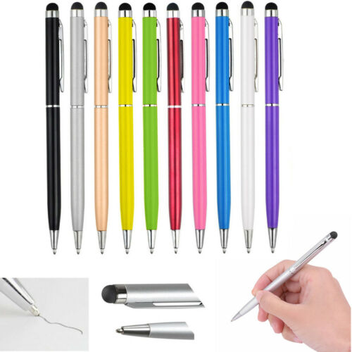 10X 2in1 Touch Screen Stylus Ballpoint Pen For iPad iphone Smartphone Tablet PC