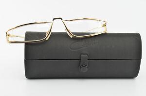 CAZAL-Brille-Mod-724-Col-302-Reading-Eye-Frame-Lunettes-Schwarz-Gold-Case