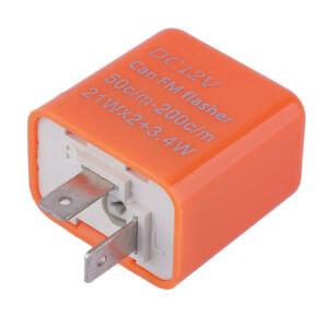 2-Pin-Speed-Adjustable-LED-Flasher-Relay-Motorcycle-Turn-Signal-Indicator-eJ