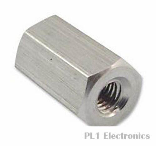 6 mm 15 mm Hex femmina m3 Duratool dtrhtsa STAND-OFF-m3-15-1 alluminio