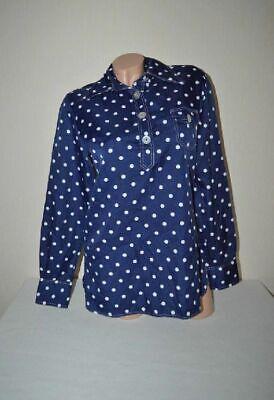 Blau/weißes Sixties Punkte Polka Dot Poloshirt Von King Spitzkragen,gr.s M 38 40