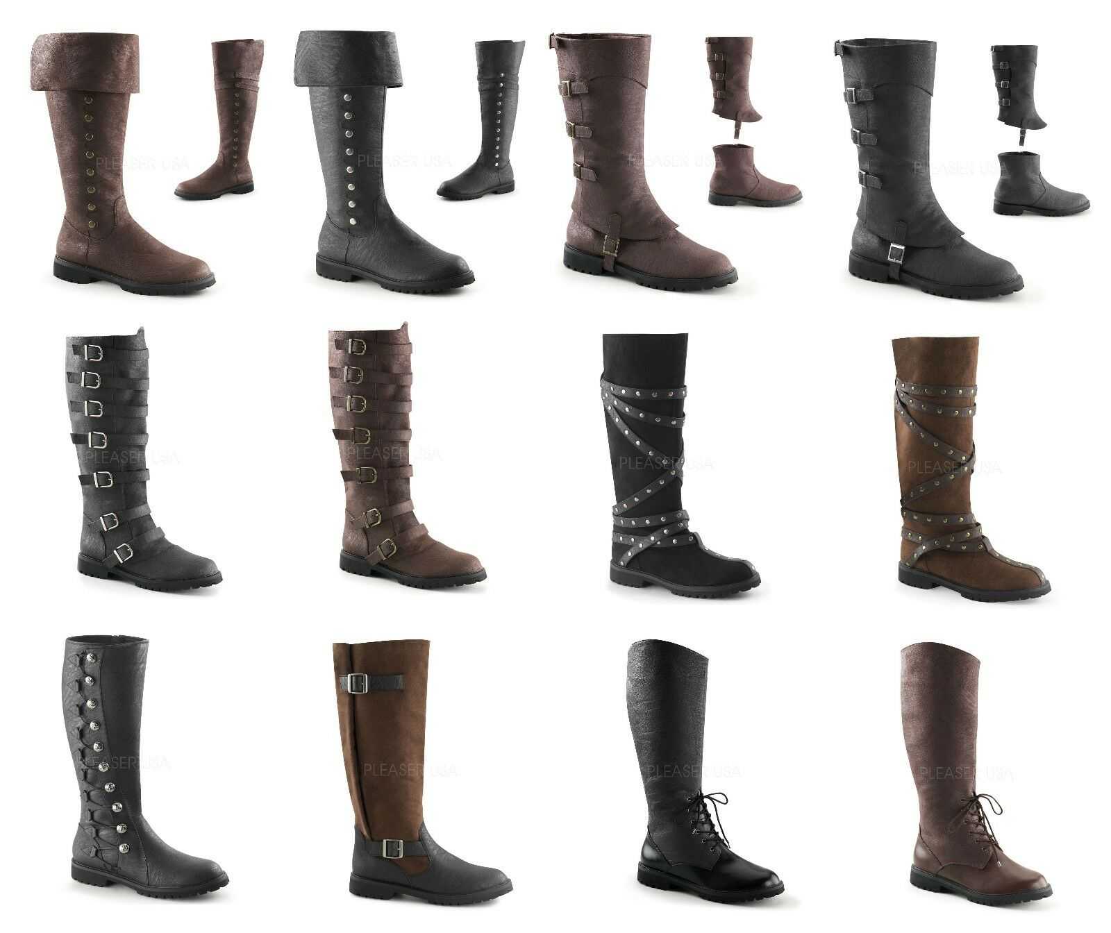 Pleaser Funtasma GOTHAM  Men's Flat Heel Tirare -on Gine High stivali 13 Styles  clienti prima reputazione prima
