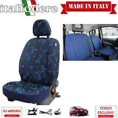 Fodere Coprisedili Fiat Panda 2003>2011 Su Misura Coppia Foderine Anter Blu 34
