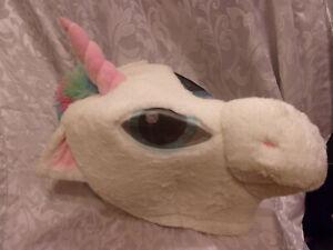 "Dan Dee Unicorn Mask Big Greeter Head 18"" Plush Soft Toy Stuffed Animal"