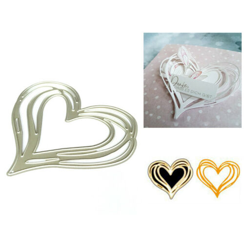 Love Heart Metal Cutting Dies Stencil for DIY Scrapbooking Paper Card DecorPDH