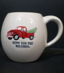 Rae-Dunn-Mug-Home-For-The-Holidays-Red-Truck-Christmas-Tree-Red-Interior
