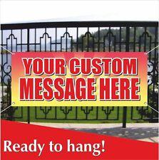 Your Custom Message Here Banner Vinyl Mesh Banner Sign Many Sizes Custom Design