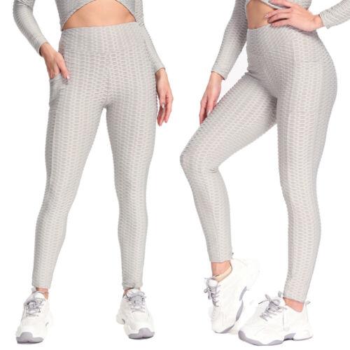 Women Anti-Cellulite Pockets Yoga Pants High Waist Push Up Leggings Trousers Gym