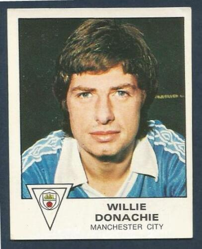 PANINI FOOTBALL 80 #210-MANCHESTER CITY /& SCOTLAND-WILLIE DONACHIE