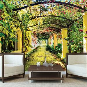papier fototapete fototapeten tapete natur garten pflanzen grun blumen 14n136p8 ebay. Black Bedroom Furniture Sets. Home Design Ideas