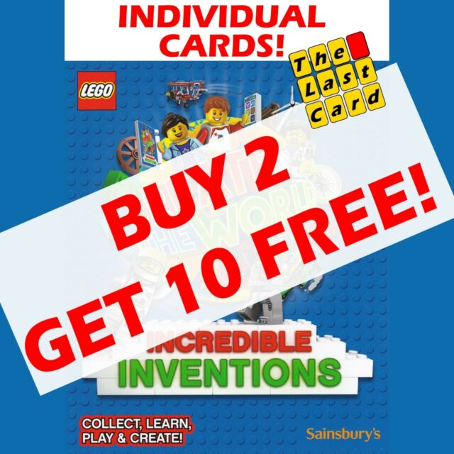 No 110 LEGO Sainsburys Create The World Incredible Inventions cards 110 all set