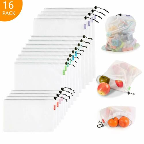 Mesh reusable bags washable environmentally friendly lightweight,