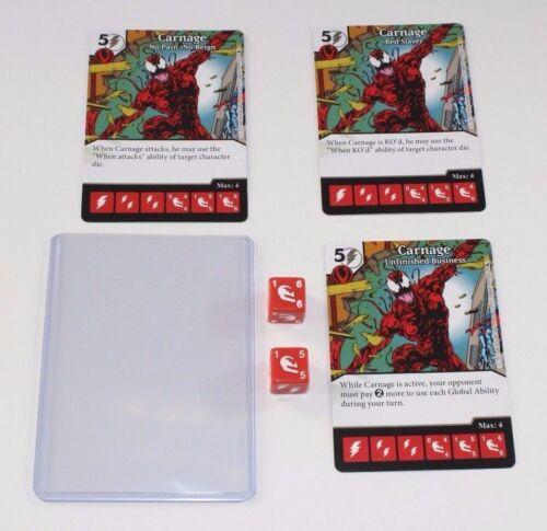 3 CARNAGE * Marvel Dice Masters Spider-Man MAXIMUM CARNAGE Team Pack 2 DICE