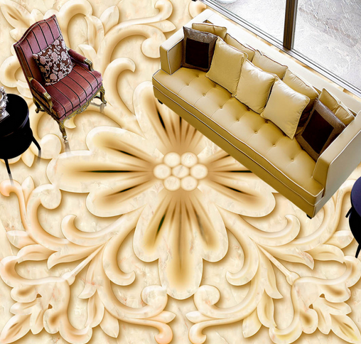 3D Retro Floral Art 83 Floor WallPaper Murals Wall Print Decal AJ WALLPAPER US
