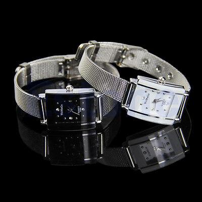 Men's Women's Quartz Stainless Steel Elegant Classic Wrist Watch New
