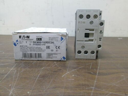 RDC24 Eaton Contactor DILM32-10 24-27 V DC 15KW//400V DC Operated XTCE032C10TD
