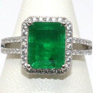 Sparkling-Natural-Genuine-Colombian-Emerald-Ring-Women-Wedding-Birthday-Jewelry