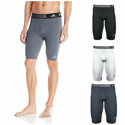 """adidas Men's Techfit CLIMALITE 9"""" Compression Shorts Athletic Amour Underwear"""