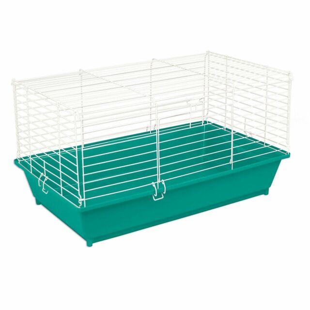 Small Pet Cage Animal Carrier Plastic Base Wire Top Guinea Pig ...