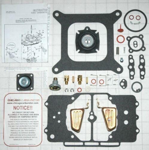 4100 MODEL 1958-69 4 BARREL MOTORCRAFT CARB ULTIMATE CARB KIT-W//DIAPHGRAM FLOATS